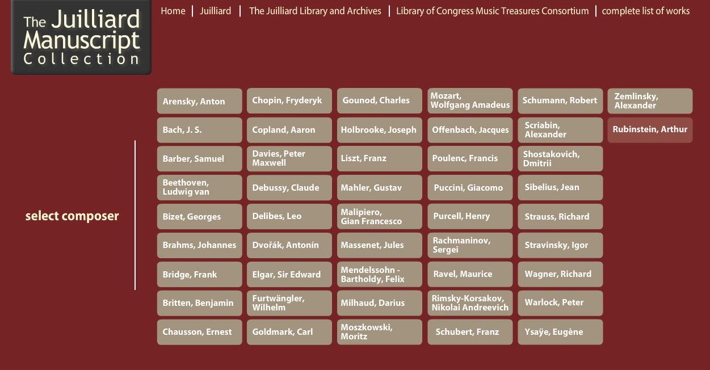 Juilliard Manuscript Collection 2