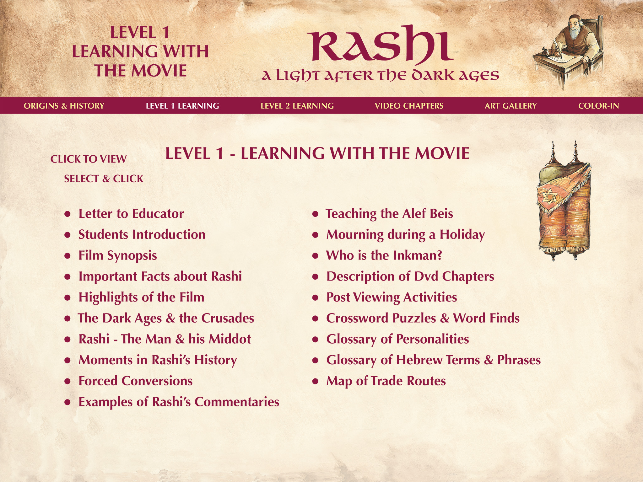Rashi Learning with the Movie